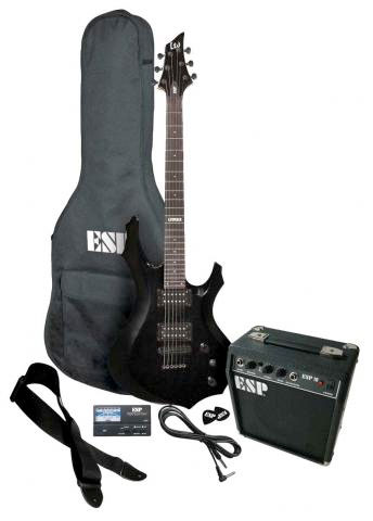 ESP LTD F-10 Guitar Pack - Black Finish Included