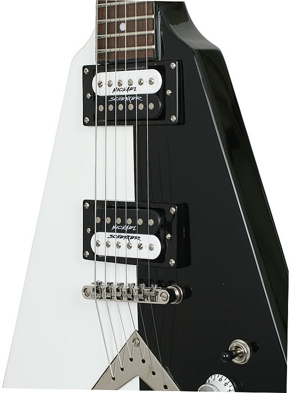 Dimarzio Michael Schenker Bridge Position (*Bulk Pac) - Black/White with Logo View 2