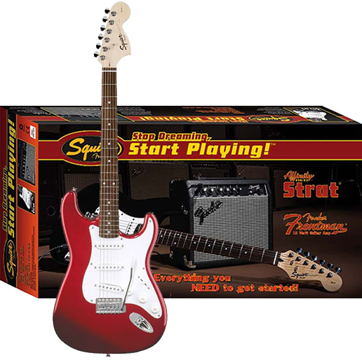 Stop Dreaming, Start Playing! Affinity Strat Special with Frontman Amp15G - Metallic Red