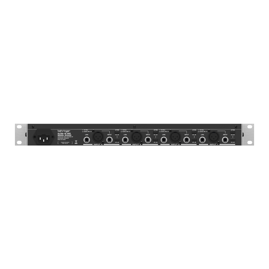 Behringer DI4000 ULTRA-DI PRO  Rear View