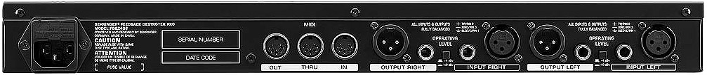 Behringer FBQ2496 Feedback Destroyer Open Box Rear View