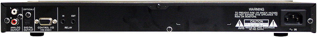 Tascam CD-01U *Display Rear View