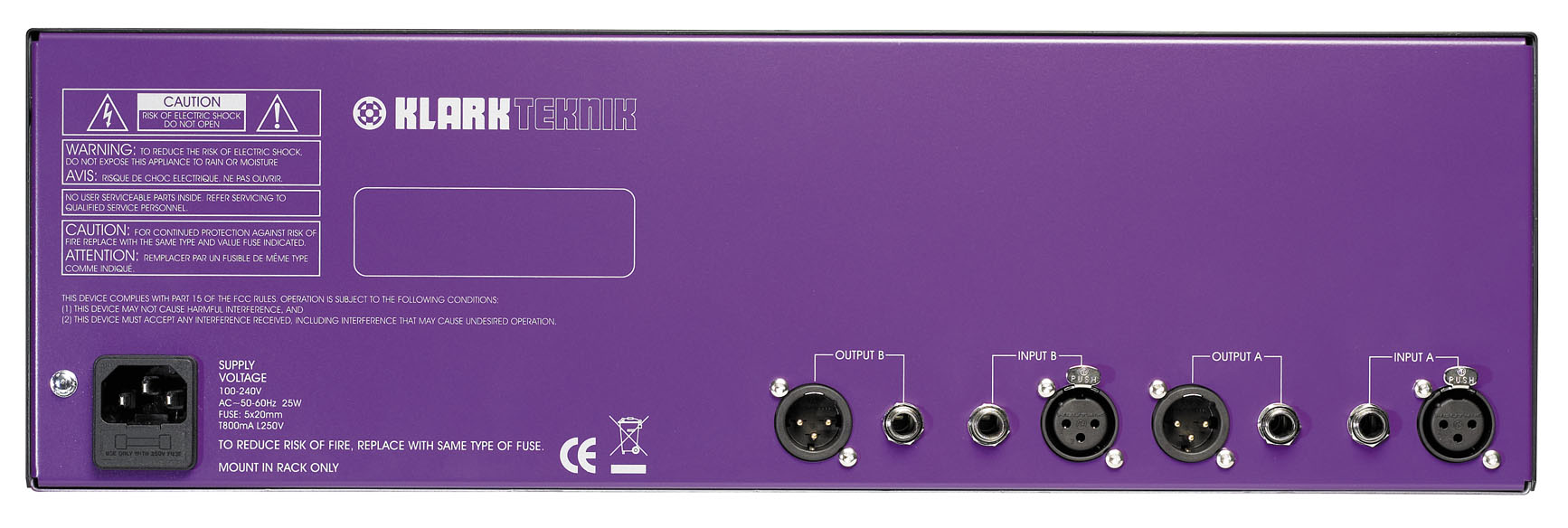 Klark Teknik Square One Graphic Rear View