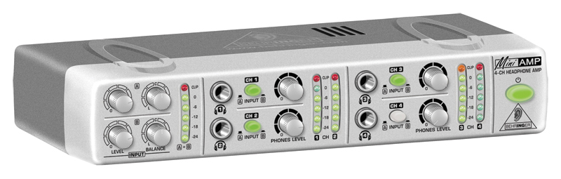 Behringer AMP800 Side View