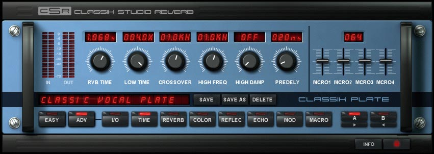 Ik Multimedia CSR Classik Studio Reverb Advanced Mode