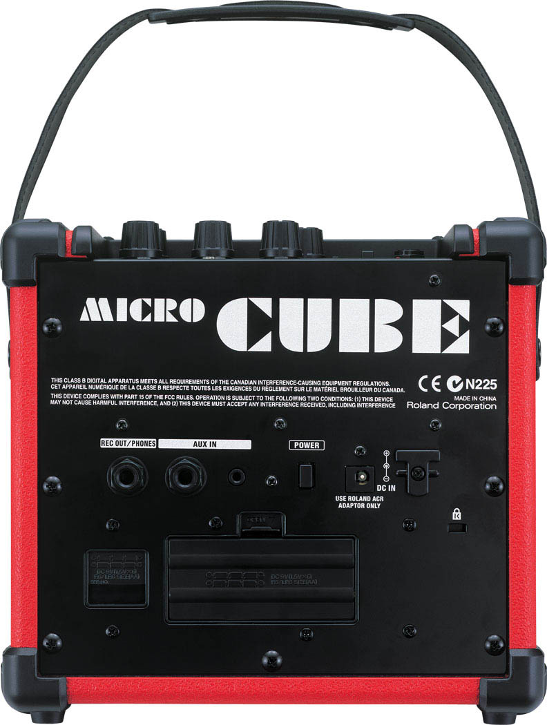 Roland Micro Cube Red Rear View