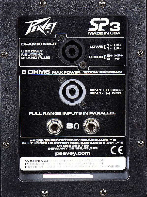 Peavey SP3 Pair Rear View