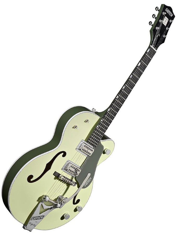 Gretsch G6118T Anniversary™ with Bigsby® - Smoke Green 2-Tone View 2