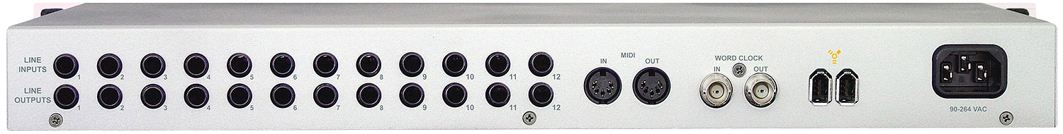 Echo AudioFire 12 Rear View