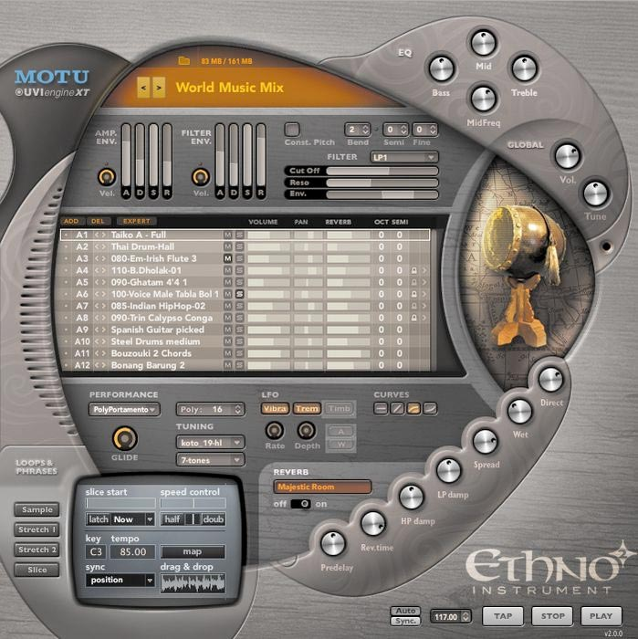 MOTU Ethno Instrument 2 Screenshot