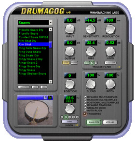 Wave Machine Labs Drumagog Platinum Interface View