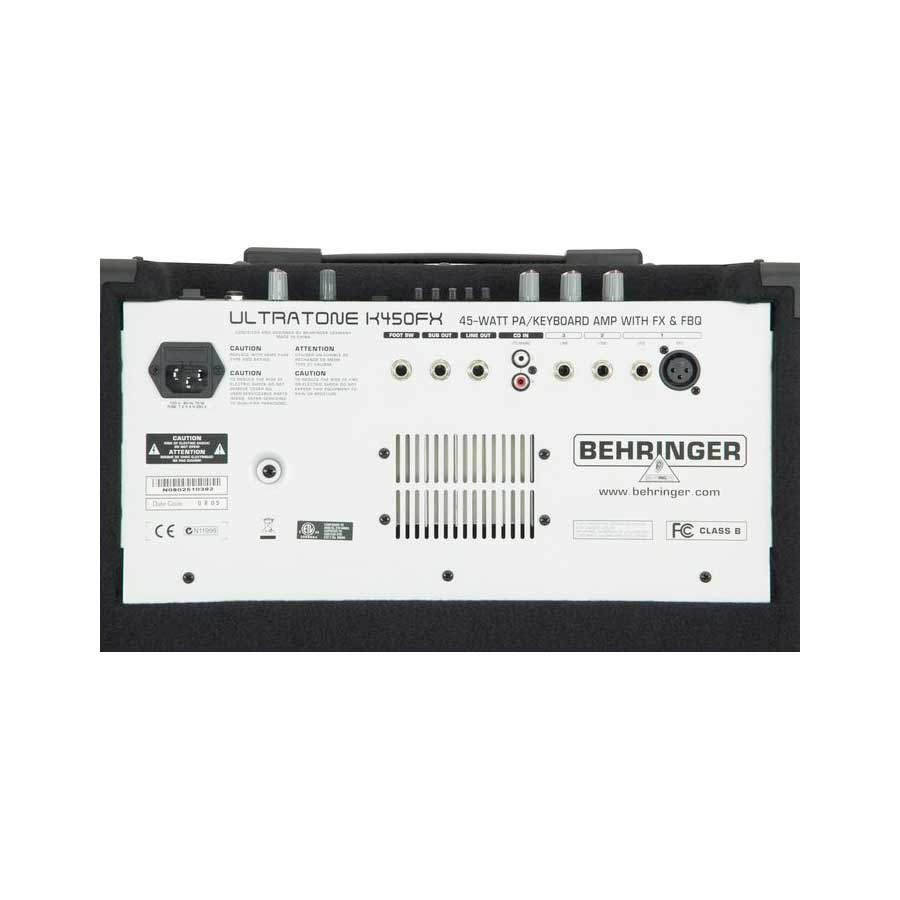 Behringer K450FX Rear View