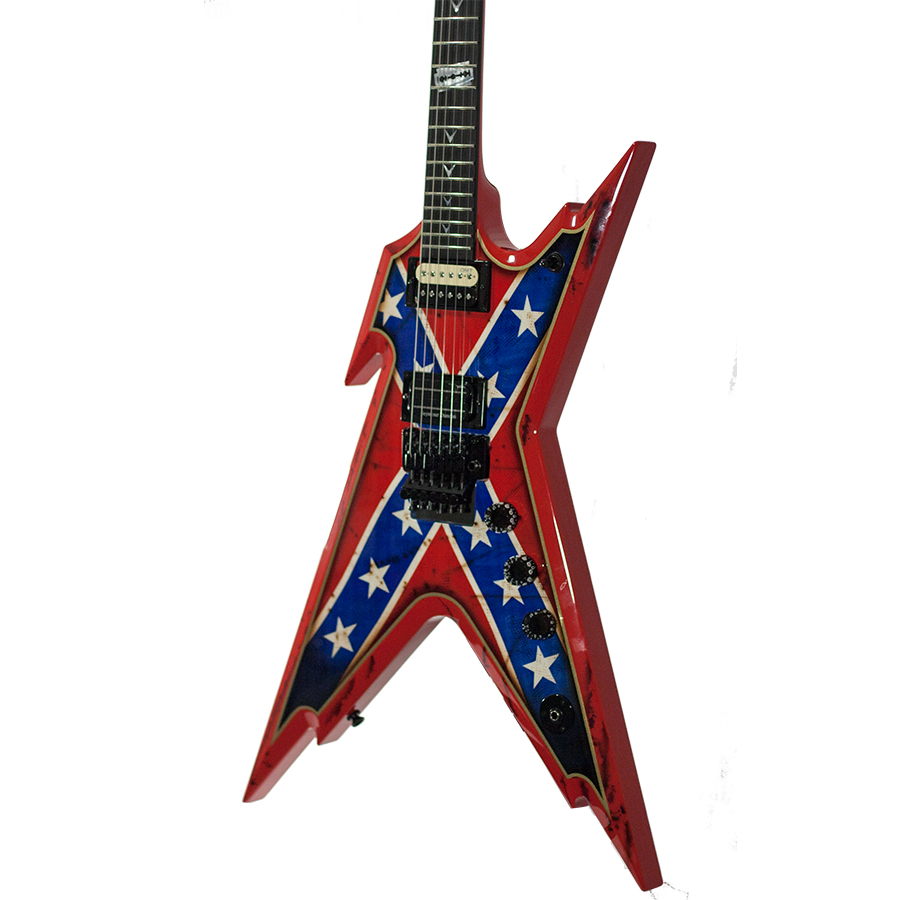 Dean USA Razorback Rebel Flag Paint Body Detail