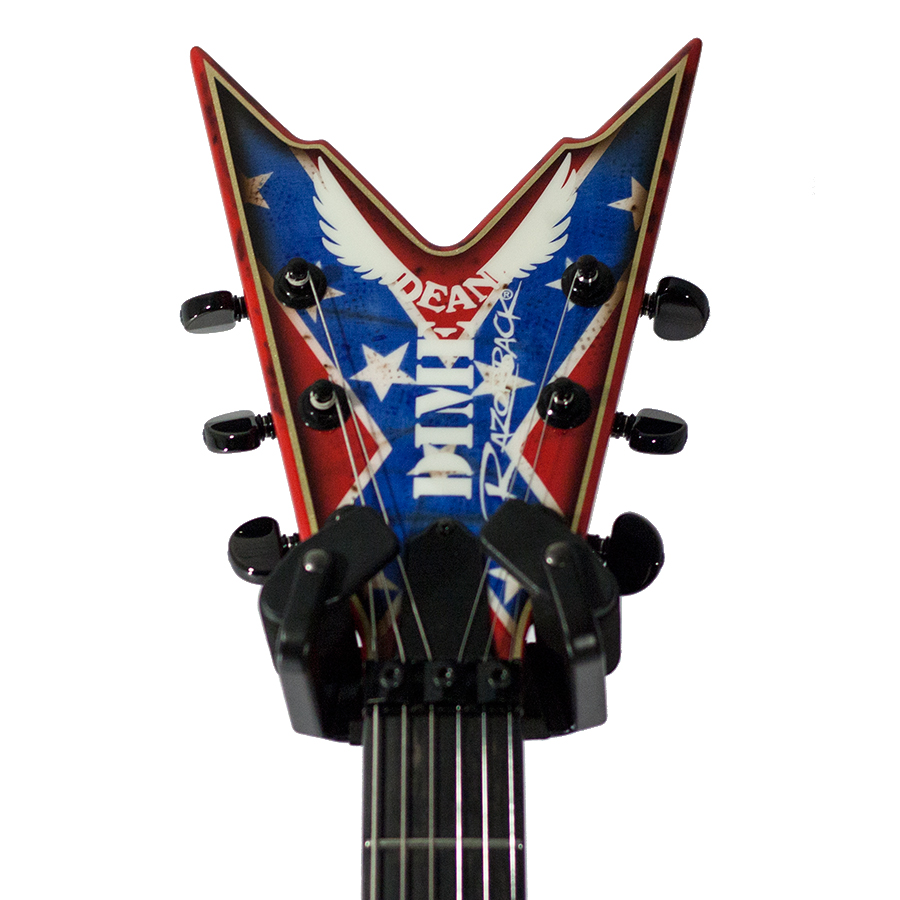 Dean USA Razorback Rebel Flag Paint Headstock Detail
