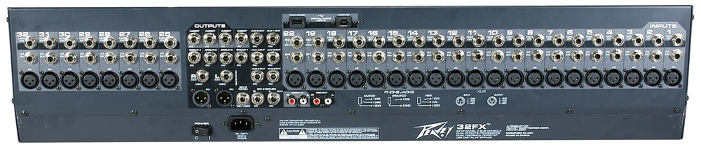 Peavey 32FX Rear View