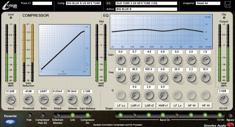 Focusrite Liquid Mix Interface View