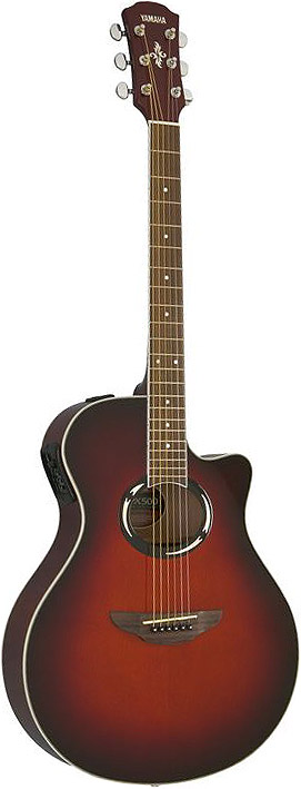 Yamaha APX500 Dark Red Burst