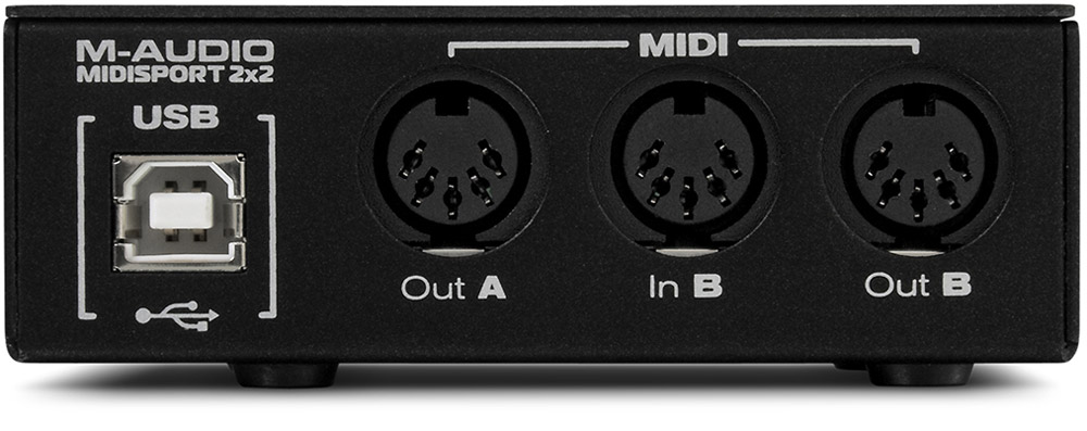 M-Audio MIDISPORT 2x2 Anniversary Edition Rear View