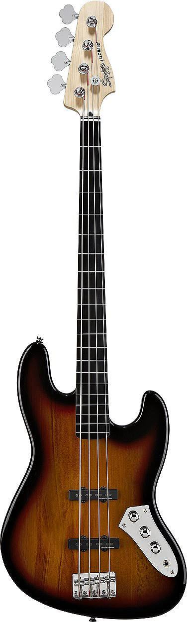 Vintage Modified Jazz Bass® Fretless - 3-Color Sunburst