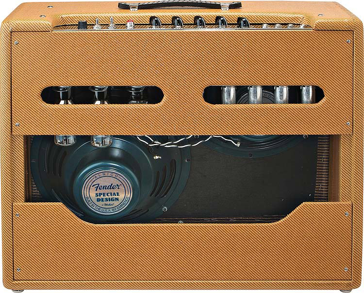 Fender 57 Twin Amp - Tweed Rear View