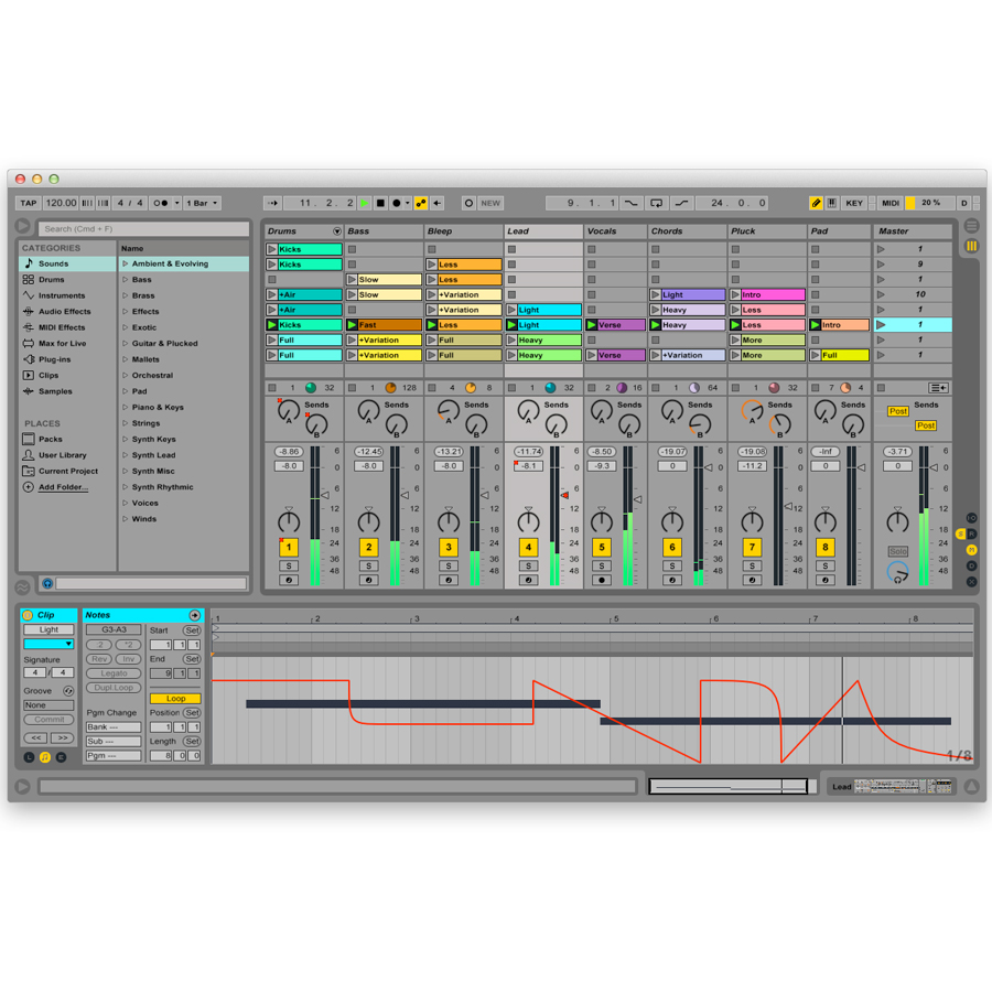 Ableton Live 9 Standard Screenshot