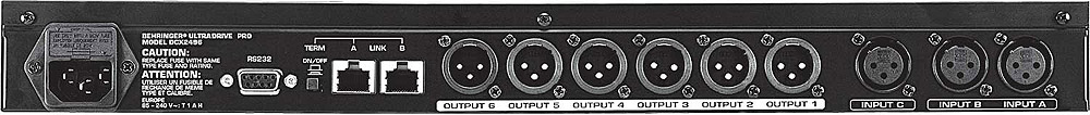 Behringer DCX2496 Rear View