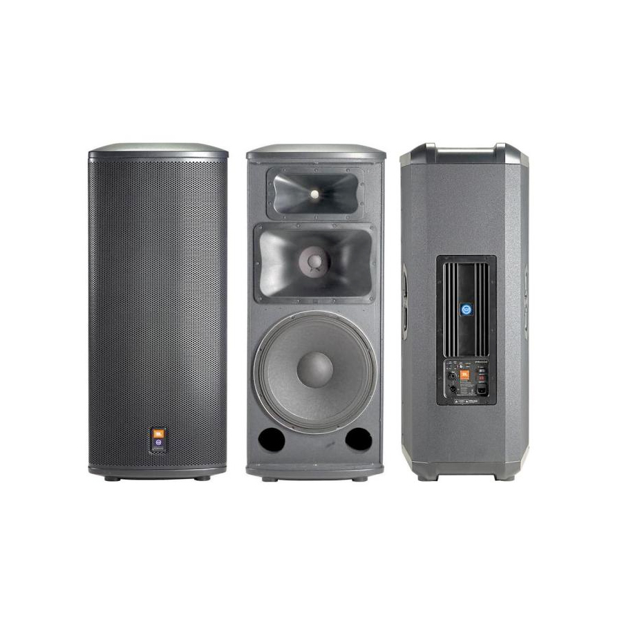 JBL PRX535 (active) Pair Rear and Inside View