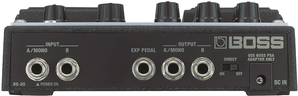 Boss RE-20 Space Echo Rear View