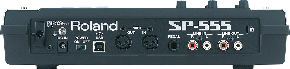 Roland SP-555 Rear View