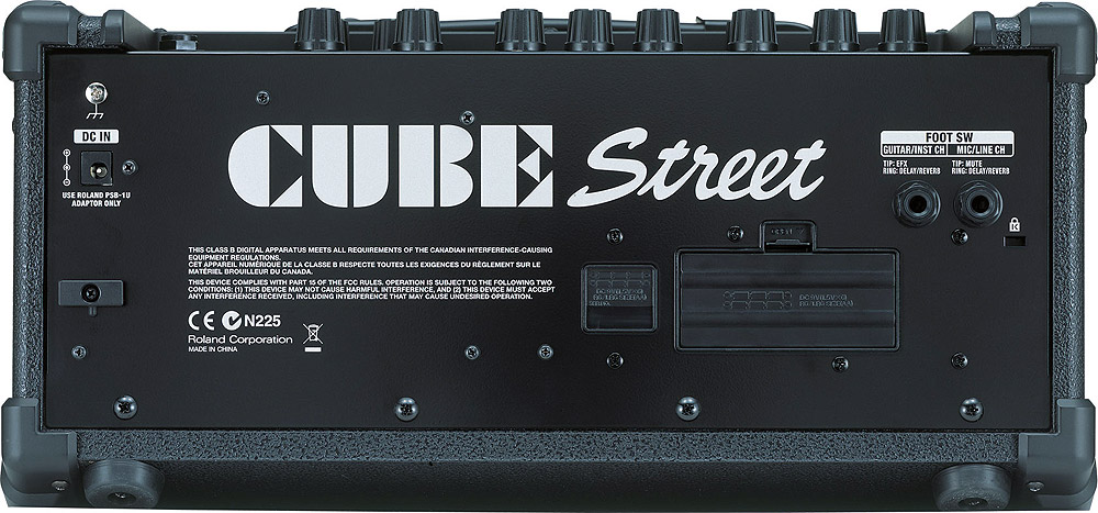 Roland Cube Street - Black Rear View