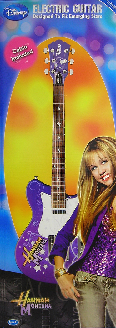 Washburn Electric Hannah Montana Guitar - Purple Box View