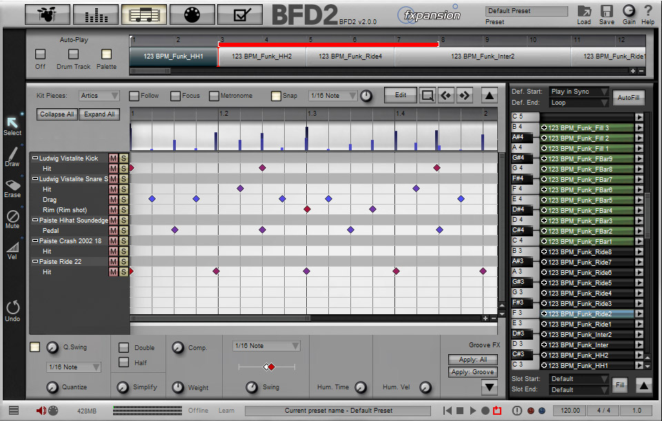 Fxpansion BFD2 Interface View 2