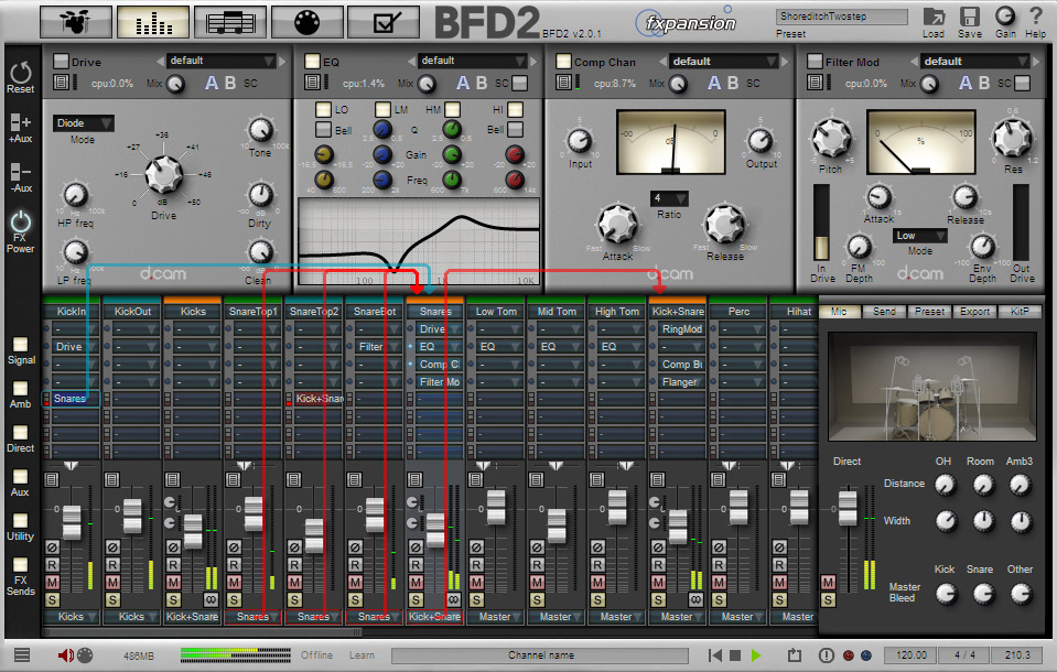 Fxpansion BFD2 Interface View 3