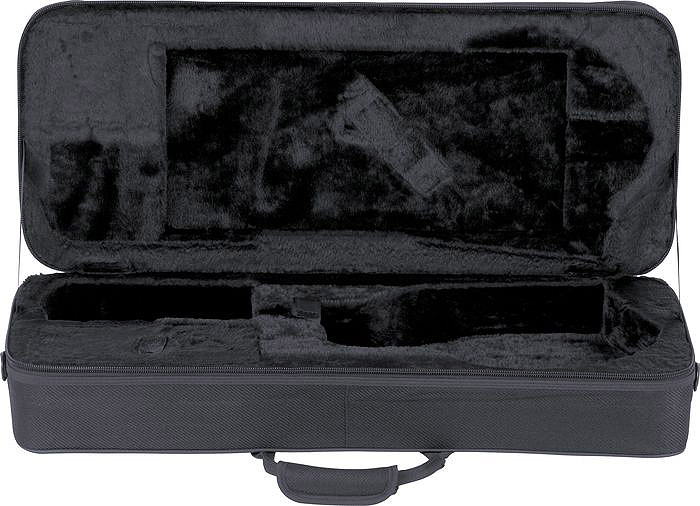Michael Kelly Armored Feather Mandolin Case - Black Tweed Open View