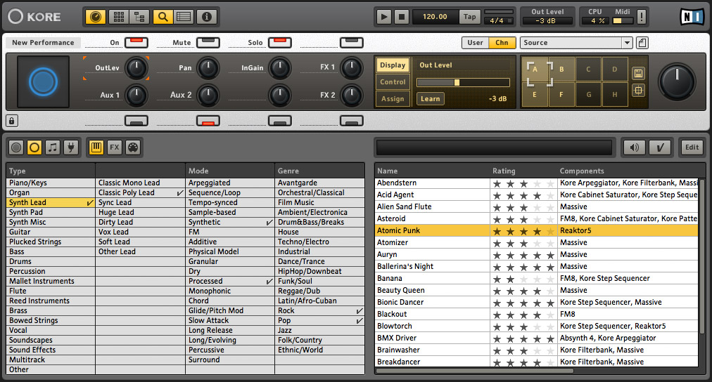 Native Instruments KORE 2 Screenshot View