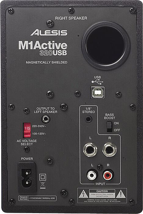 Alesis M1 320 (active) Pair USB RIght Rear View