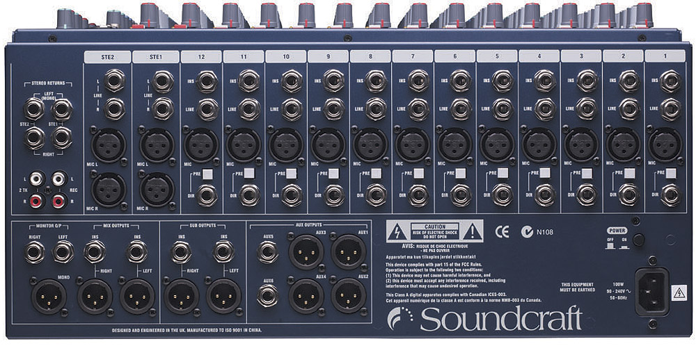 Soundcraft GB2R-16 Rear View