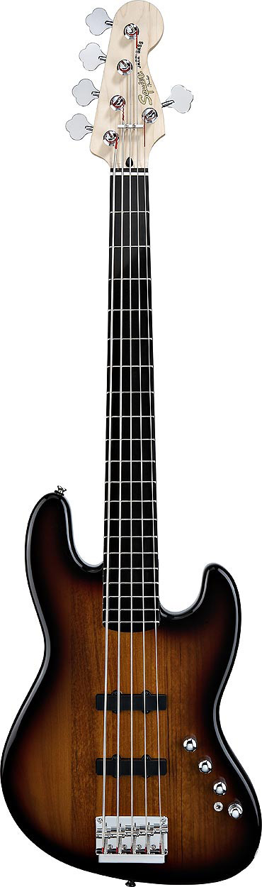 Deluxe Jazz Bass V Active - 3-Color Sunburst