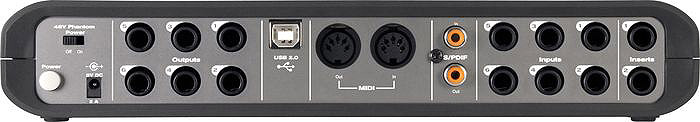 M-Audio Fast Track Ultra 8X8 w/ Pro Tools SE Rear View