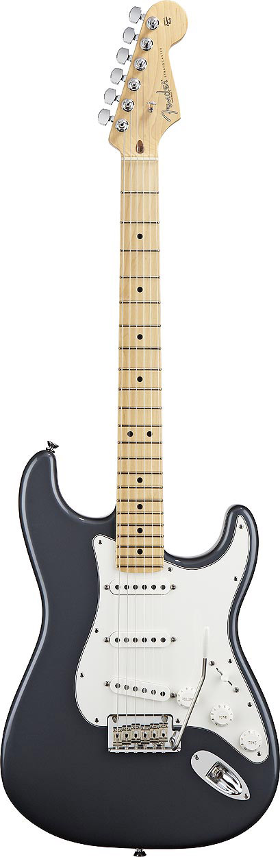 American Standard Stratocaster - Charcoal Frost Metallic with Case - Maple