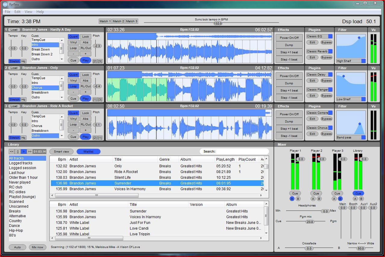 PCDJ Reflex  Screenshot View