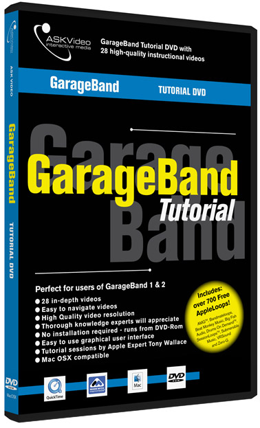 GarageBand Tutorial DVD