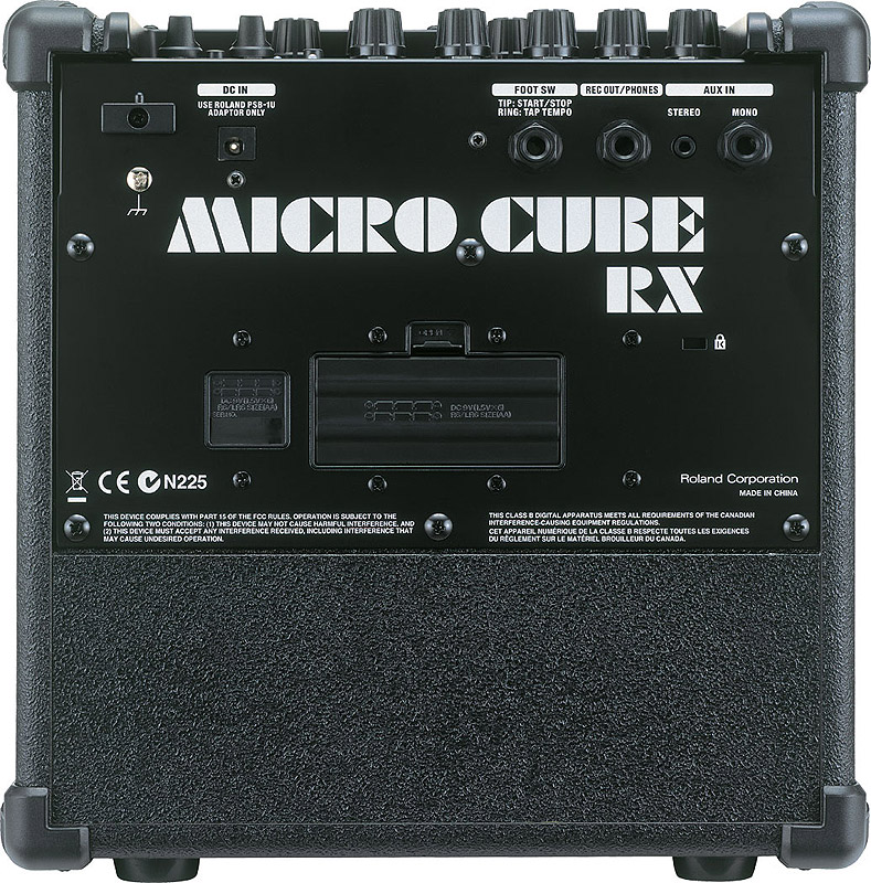 Roland Micro Cube RX - Black Rear View