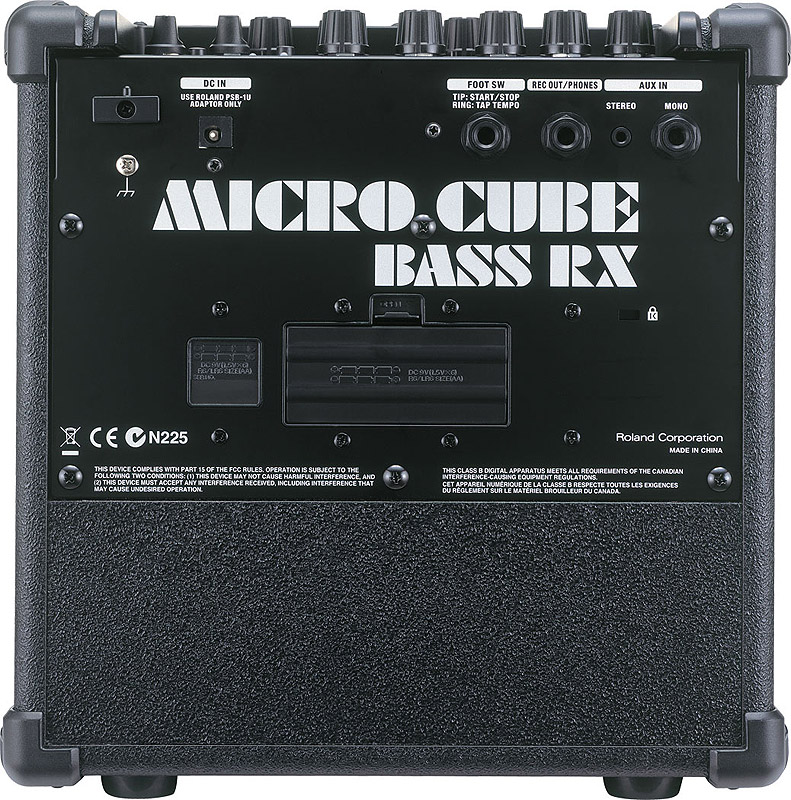 Roland Micro Cube Bass RX - Black Rear View