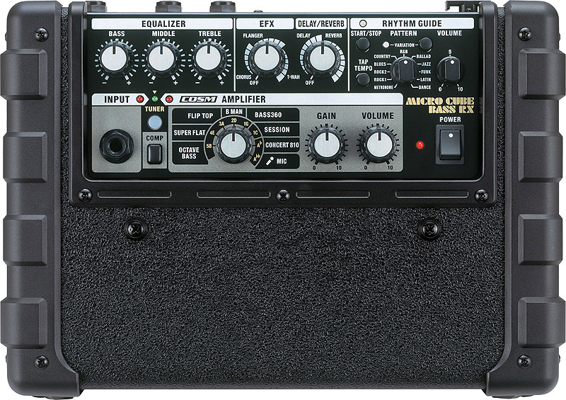 Roland Micro Cube Bass RX - Black Open Box Top View