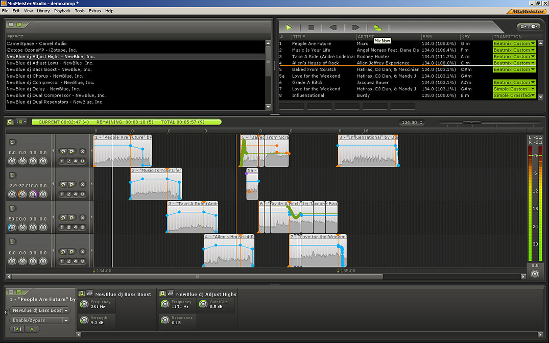Numark MixMeister Studio Screenshot View
