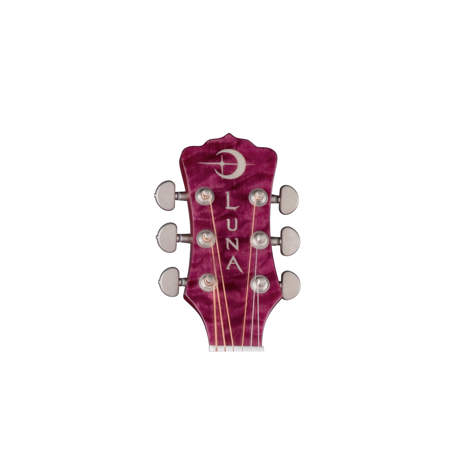 Luna Guitars Flora Series - Lotus Headstock View