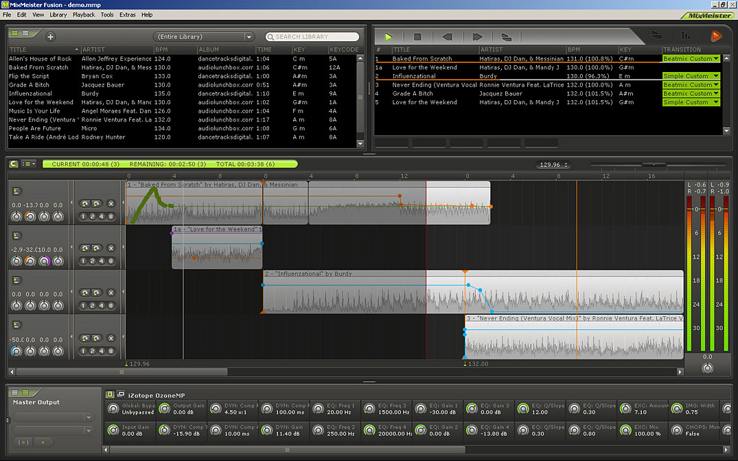 Numark MixMeister Fusion Screenshot View