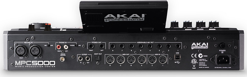 Akai MPC5000 Rear View