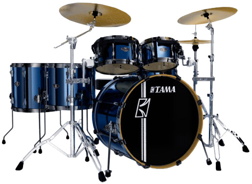 Superstar Hyper Drive 4-Piece Drum Kit - Brushed Vintage Blue